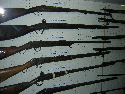 photo: Old rifles at Burgersdorp Museum